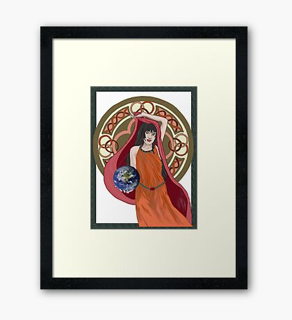 Gaia Is Coming Framed Print