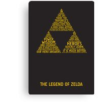 Legend of Zelda Typography Canvas Print