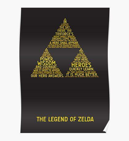Legend of Zelda Typography Poster