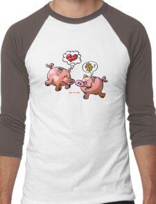 Money or Love? Men's Baseball ¾ T-Shirt