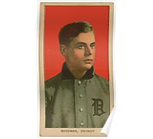 Benjamin K Edwards Collection Claude Rossman Detroit Tigers baseball card portrait Poster