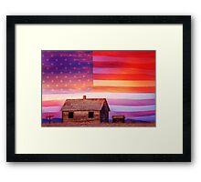 Rural Rustic America Framed Print