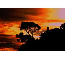 Sunset over Cabrillo Beach Photographic Print