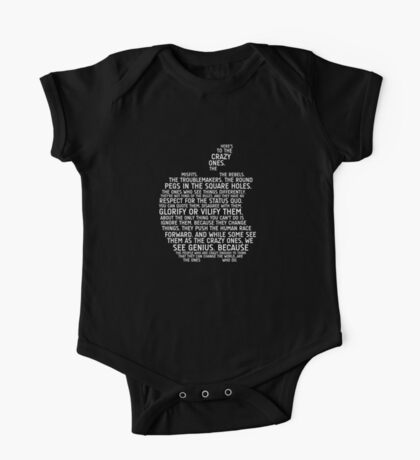 Apple Typography Kids Clothes