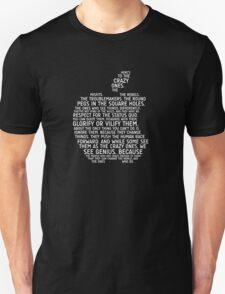 Apple Typography Unisex T-Shirt