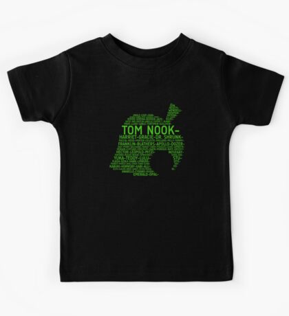 Animal Crossing Typography Kids Clothes
