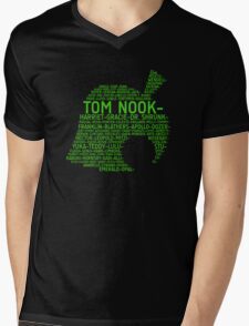 Animal Crossing Typography Mens V-Neck T-Shirt