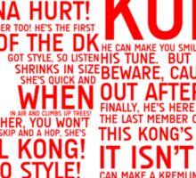 Donkey Kong Poster Sticker