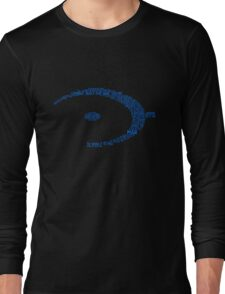 Halo Typography [Blue] Long Sleeve T-Shirt