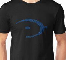 Halo Typography [Blue] Unisex T-Shirt