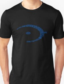 Halo Typography [Blue] T-Shirt