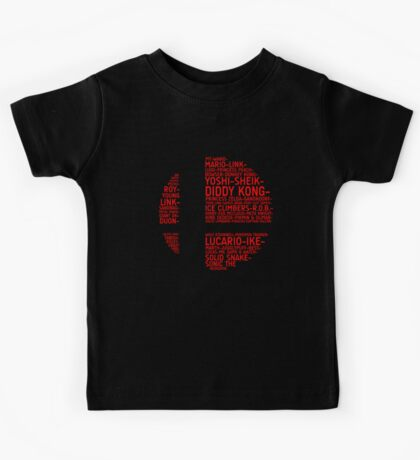 Super Smash Bros. Typography Kids Clothes