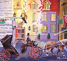 Caleche Ride, Old Quebec City by Dan Wilcox
