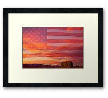 Rural Patriotic America Framed Print