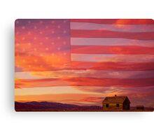Rural Patriotic America Canvas Print