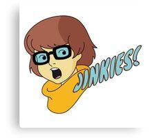 Velma Dinkley - Jinkes! [Blue Text] Canvas Print