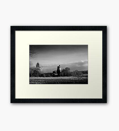 Winter Sun in Macollop Framed Print