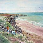 St.Cyrus Bay, Scotland by Joyce Grubb