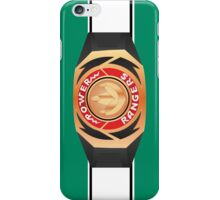MMPR Green Ranger Morpher/Buckle Phone Case iPhone Case/Skin
