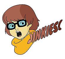 Velma Dinkley - Jinkes! [Brown Text] by Chelsea Birrane