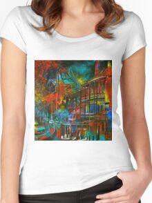 Story Bridge & Hotel, Brisbane. Women's Fitted Scoop T-Shirt