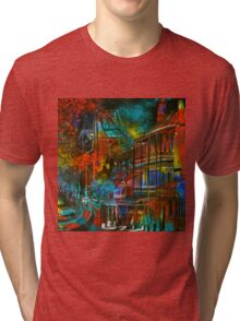 Story Bridge & Hotel, Brisbane. Tri-blend T-Shirt