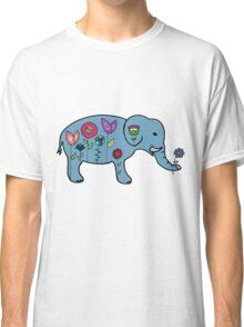 Elephant Flowers Classic T-Shirt