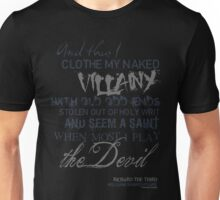 Shakespeare's Richard III Villainy Quote T-Shirt