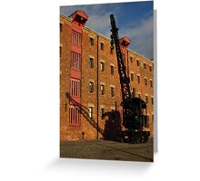 Large crane small shadow Greeting Card