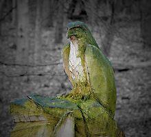 Chainsaw carved bird of prey by kevindobie