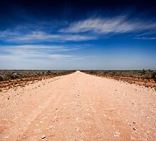 Road to Mungo - Mungo NP, NSW by Malcolm Katon