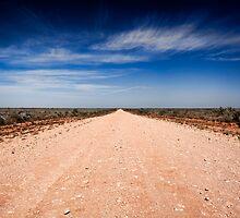 Road to Mungo - Mungo NP, NSW by Malcolm Katon