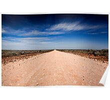 Road to Mungo - Mungo NP, NSW Poster