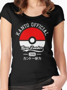 KANTO OFFICIAL POKEMON GYM Women's Fitted Scoop T-Shirt