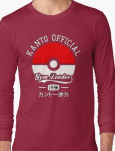 KANTO OFFICIAL POKEMON GYM Long Sleeve T-Shirt
