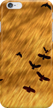 Freefall iPhone Cover by Leslie Guinan
