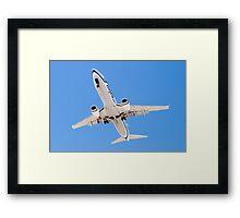 Belly shot of an Alaska Airlines Boeing 737 Framed Print