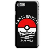 KANTO OFFICIAL POKEMON GYM iPhone Case/Skin