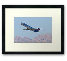 N415NV Allegiant Air, McDonnell Douglas MD-82 Framed Print