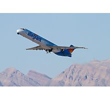 N415NV Allegiant Air, McDonnell Douglas MD-82 Photographic Print