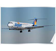 N863GA Allegiant Air McDonnell Douglas DC-9-83 Poster