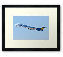 N874GA Allegiant Air, McDonnell Douglas MD-83 Framed Print