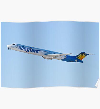 N874GA Allegiant Air, McDonnell Douglas MD-83 Poster