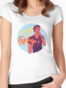 Moriarty was FAKE Women's Fitted Scoop T-Shirt