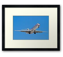 N487AA American Airlines, McDonnell Douglas DC-9 MD-82 Framed Print