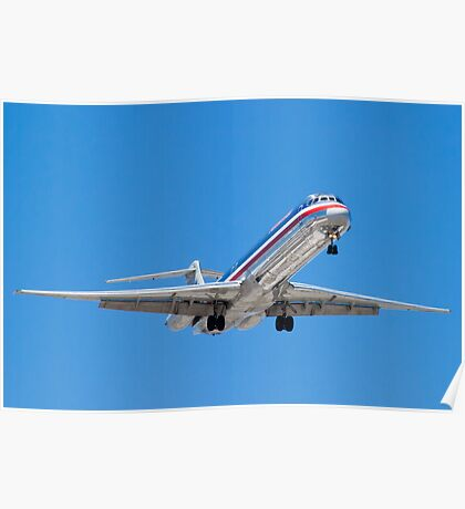 N487AA American Airlines, McDonnell Douglas DC-9 MD-82 Poster