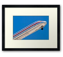 Nose shot of N487AA American Airlines, McDonnell Douglas DC-9 Framed Print