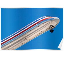 Nose shot of N487AA American Airlines, McDonnell Douglas DC-9 Poster