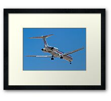 Rear shot of N487AA American Airlines, McDonnell Douglas DC-9 Framed Print