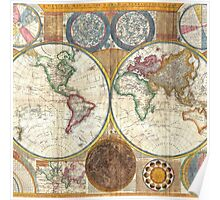 Vintage Ancient World Map Poster